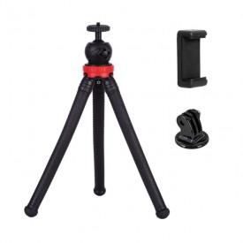 Tripé para GoPro / Celular / Câmeras Compactas Telesin Octopus Flexível