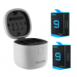 Carregador Triplo para GoPro Hero 9 Black + 2 Baterias Extras - Telesin