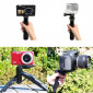 Mini Bastão de Mão e Tripé Para GoPro e Câmeras Compactas Dslr